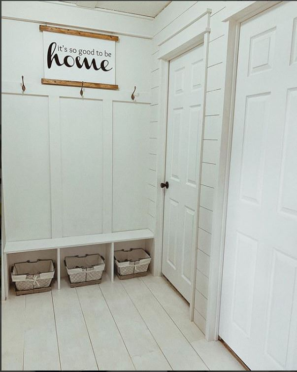 mobile home farmhouse decor-cotton copper mud room