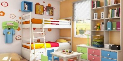 mobile home kids bedroom ideas - colorful