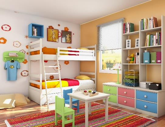 colorful kids bedroom ideas - Kids Bedroom Interiors