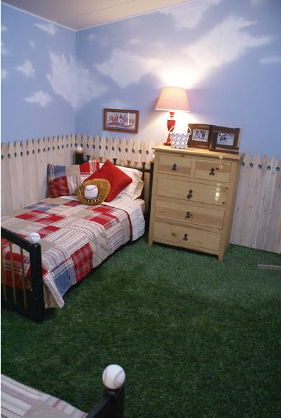 mobile home bedrooms ideas for baseball fans