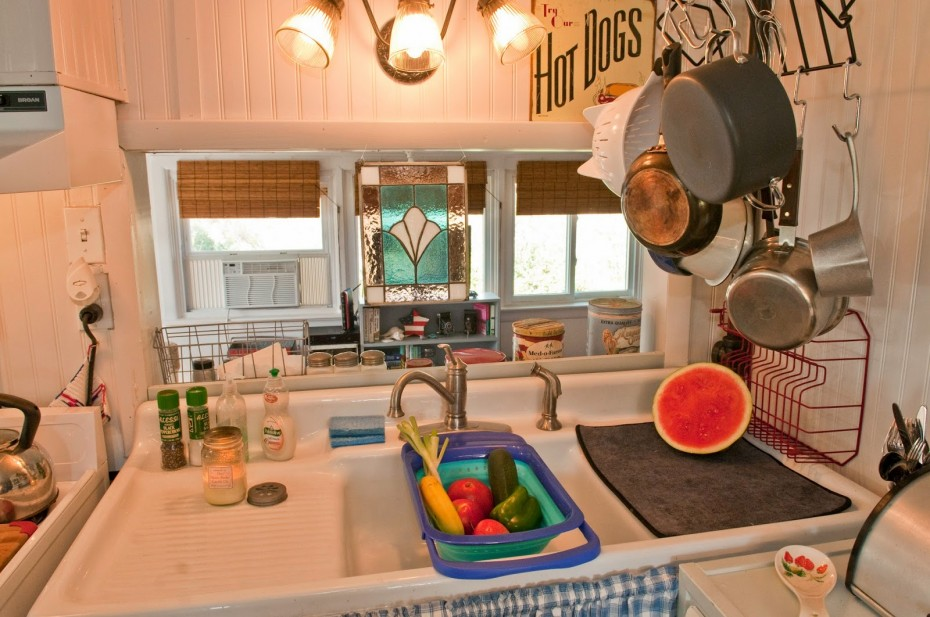 kitchen in mobile home remodel