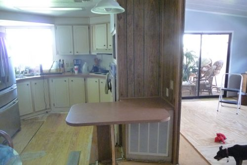 mobile home kitchen upgrade-before