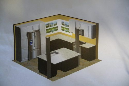 DIY mobile-home-kitchen-upgrade-finished-drawing-500x334