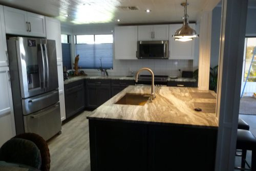 mobile home kitchen upgrade-finished kitchen