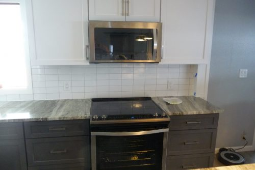 mobile home kitchen upgrade-finished stove