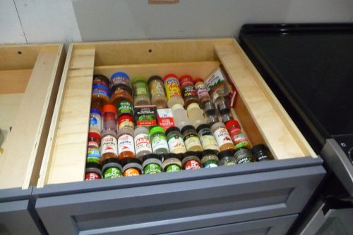mobile home kitchen upgrade-spice drawer