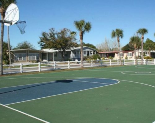 buying a mobile home in florida-carefree village basketball court