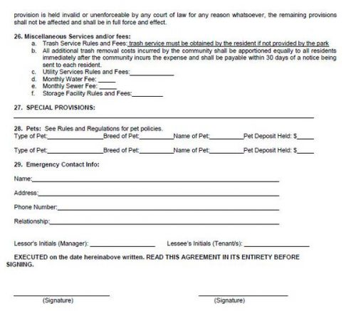 buying a mobile home in florida-sample lease agreement 5