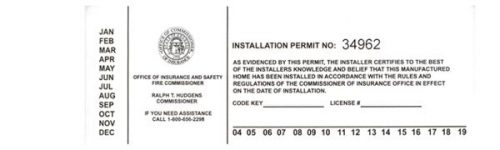 mobile home living in georgia-installation permit