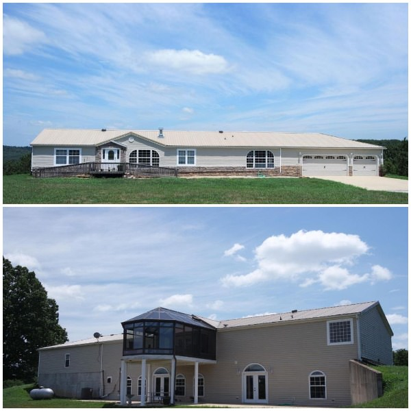 buying a mobile home in missouri-front and back of doubl wide