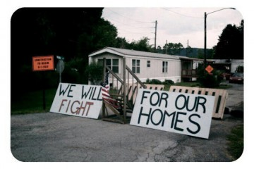 mobile home park fights back