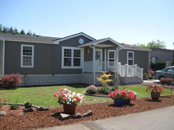 Beautiful oregon single wide mobile manufactured home Single wide mobile home exterior remodel