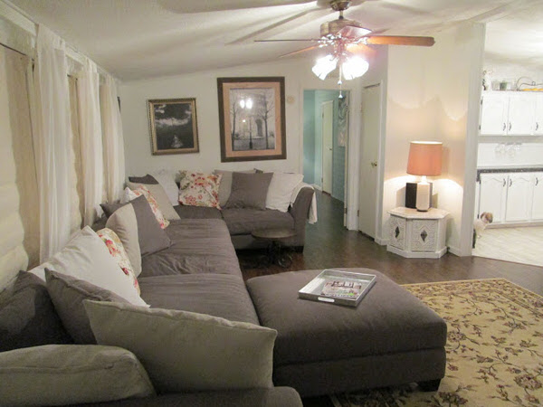 mobile home remodels-gorgeous double wide makeover living room after
