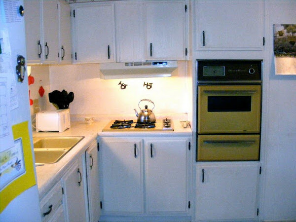 mobile home remodels-kitchen before