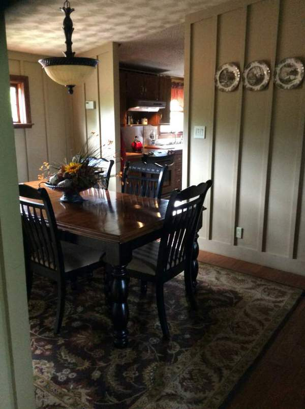 mobile home remodels-standard double wide dining room after