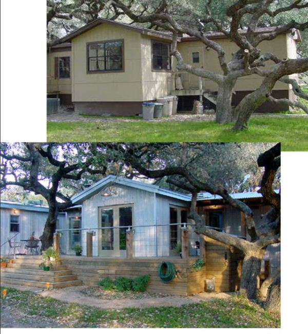 mobile home remodels-texas remodel exterior before and after