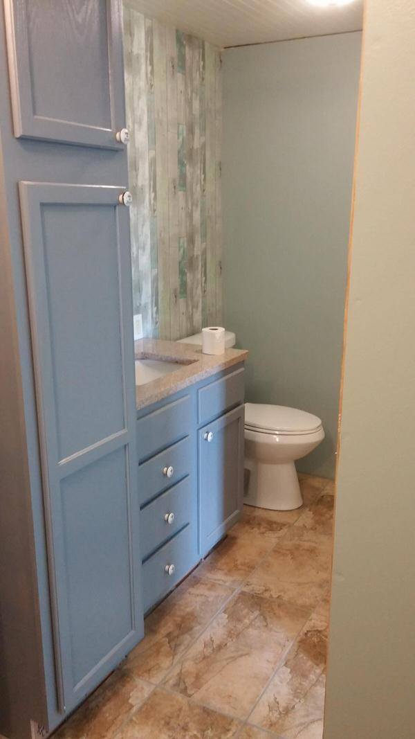 mobile home remodels-total diy bathroom after