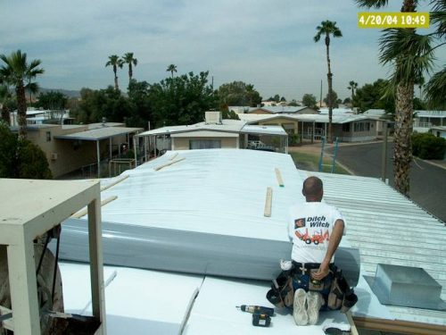 mobile home roof over