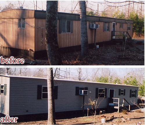 Mobile Home Siding Options Before And After Install