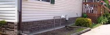 questions about mobile home skirting-faux rock skirting