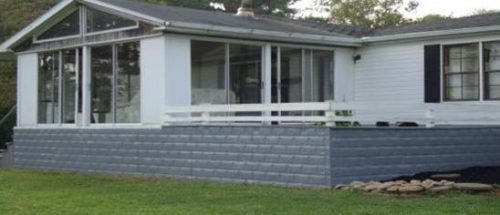 mobile home skirting - metal skirting on a mobile home