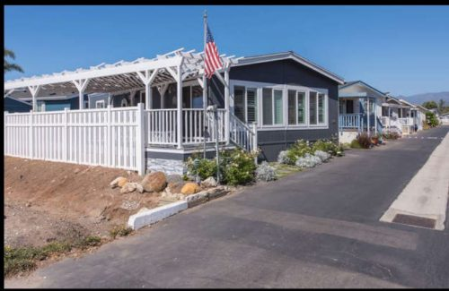 beach themed mobile home transformation-exterior after