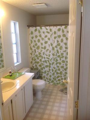 modern manufactured home remodel -master bathroom before