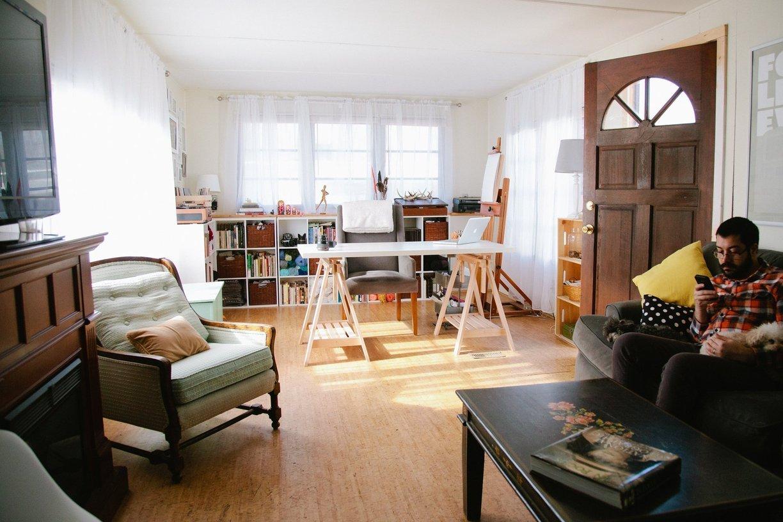 mobile home decor-modern hipster living room - mobile home