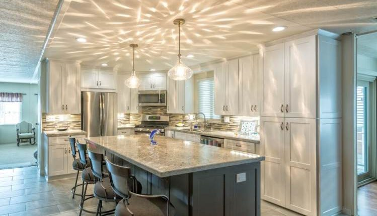 Bright and Modern Manufactured Home Kitchen Remodel