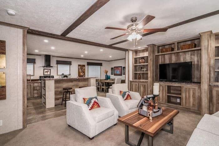 modern manufactured home models-Foundations 700 living room 2