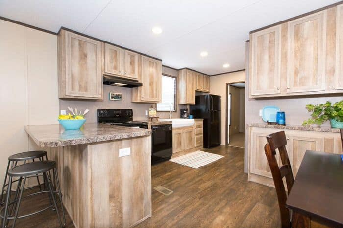 modern manufactured home models-anniversary kitchen