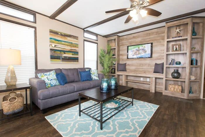 Modern manufactured home models-anniversary living room
