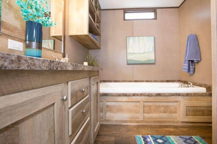 modern manufactured home models-anniversary master bath
