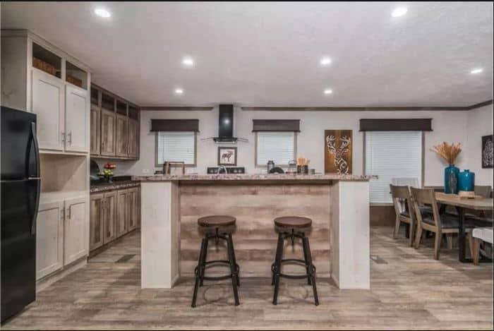 modern manufactured home models-foundations kitchen