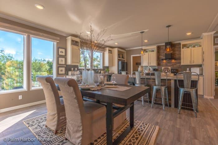 modern manufactured home models-homestead dining room