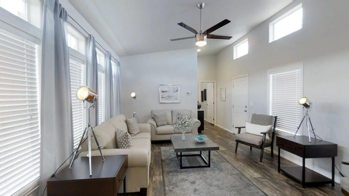 modern manufactured home models-karsten living room