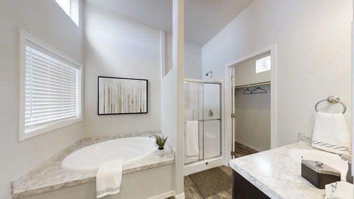 modern manufactured home models-karsten master bath