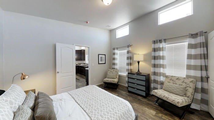modern manufactured home models-karsten master bedroom