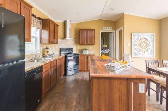 modern manufactured home models-madison xl kitchen