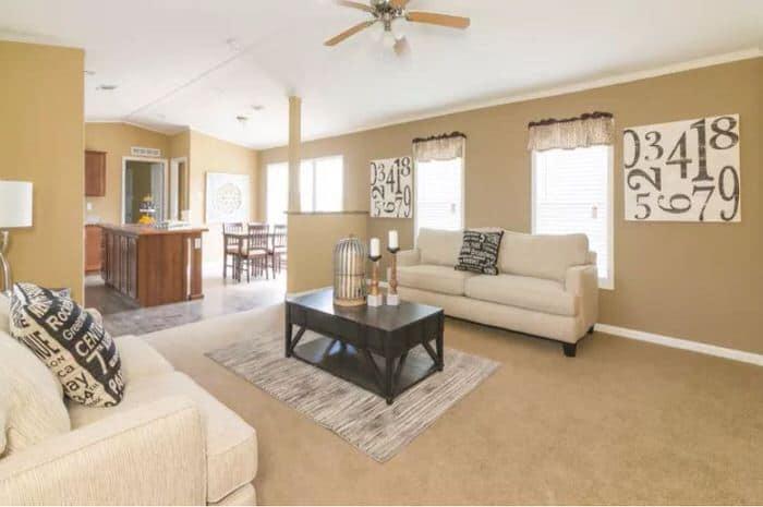 modern manufactured home models-madison xl living room