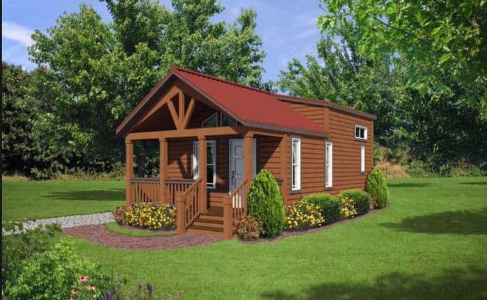 modern manufactured home models-park model exterior