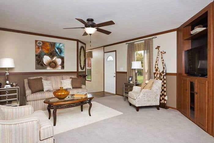 modern manufactured home models-santa rosa living room