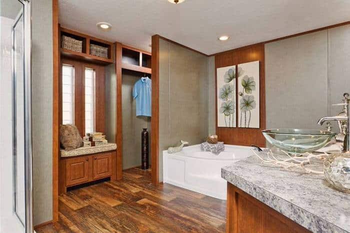modern manufactured home models-santa rosa master bath