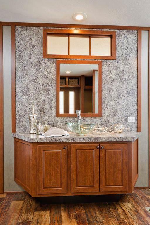 modern manufactured home models-santa rosa master vanity