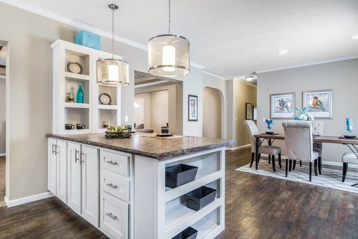 Modern manufactured home models-the lloyd dining room
