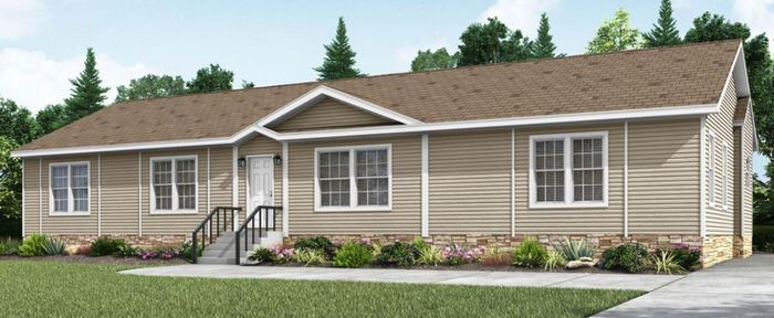 Modern manufactured home models-the lloyd exterior