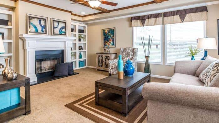 modern manufactured home models-the lloyd living room
