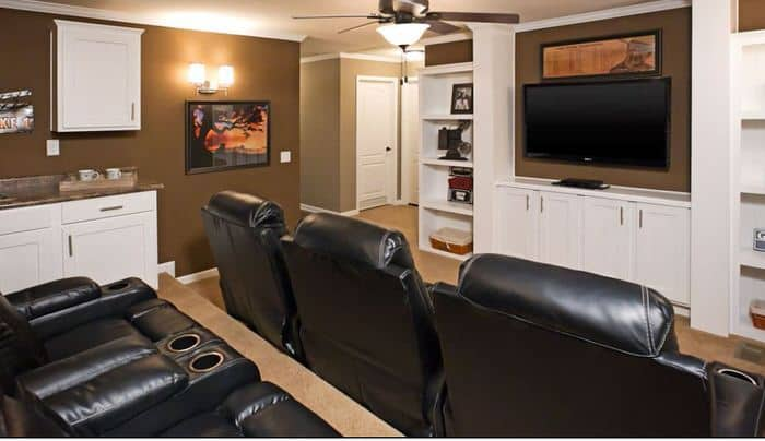 Modern manufactured home models-the lloyd theater room