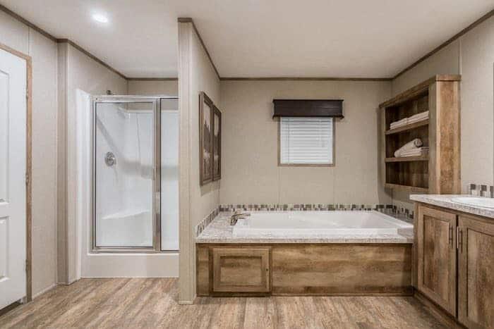 modern manufacutered home models-Foundations 700 master bathroom 2