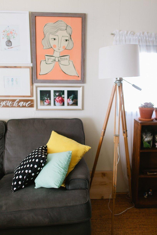 mobile home decor-modern retor hipster mobile home